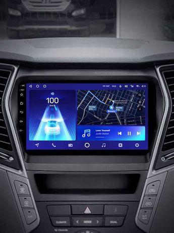 Андроид автомагнитолы Teyes Hyundai Santa Fe 2013