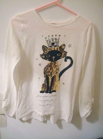 Bluza paiete pisica,marimea 9/10 ani,stare f buna,15 lei