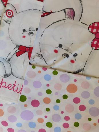 Бебешки спален комплект от 4 части за момиче