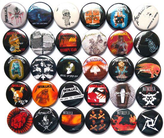 Значки на различни рок, поп, метъл групи, 30бр в комплект за 26лв