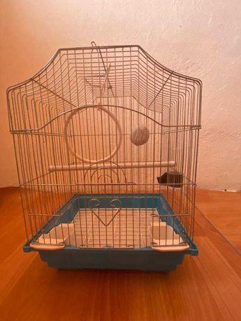 """Клетка для птиц """"Triol"""" с фигурной крышей (эмаль)"""