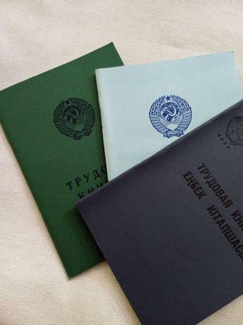 Книжки оригинальные советские трудовые