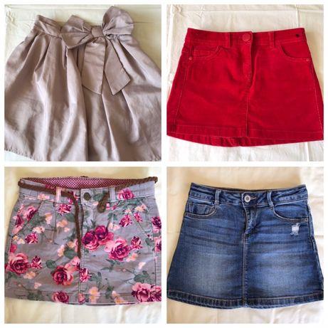 Set 4 fuste (Zara, Next, H&M, Pepco) - 6-7 ani