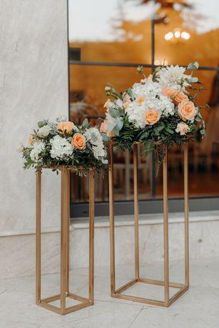 Închiriez suporți decor pentru flori/lumânări nuntă botez aniversare
