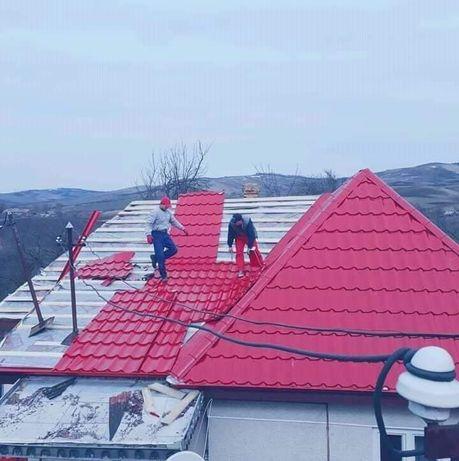 Montaj acoperișuri tigla metalică ceramica hidroizolati velux