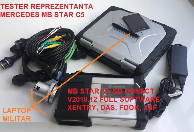 Tester Auto Mercedes Benz MB STAR 2020 XENTRY SD Connect C5 + Laptop