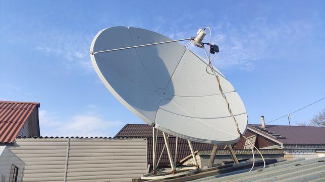 Продам спутниковую антенну с пушкой