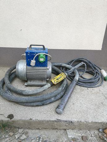 Vibrator beton cu convertizor