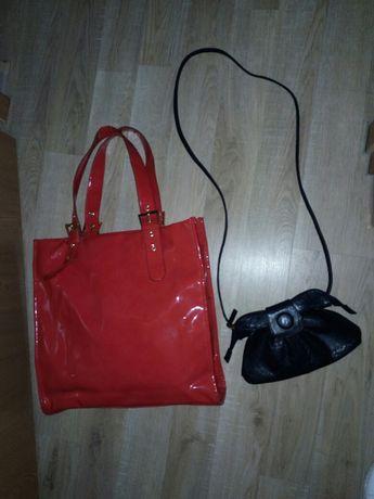 Geantă Lăcuite Roşu+ Poşetă Cadou