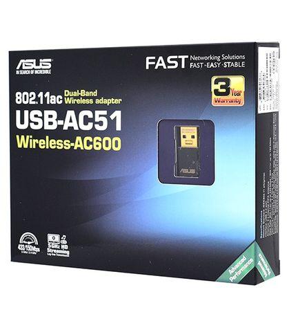Двухдиапазонный Wi-Fi USB адаптер ASUS AC51 (Новый, запечатанный)