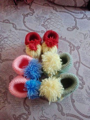 Детски плетени терлички