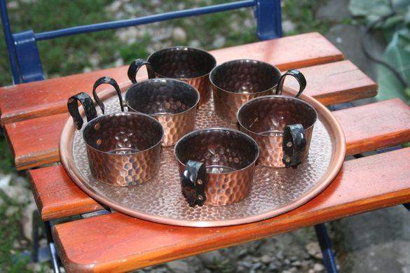 Медни съдове за готвене и сервиз за кафе