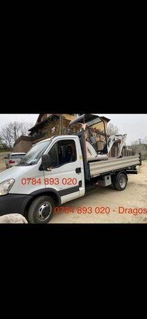 Execut lucrari excavator si transport camioneta
