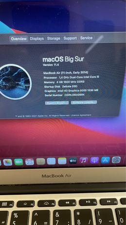 Продавам Macbook air 11 early 2014