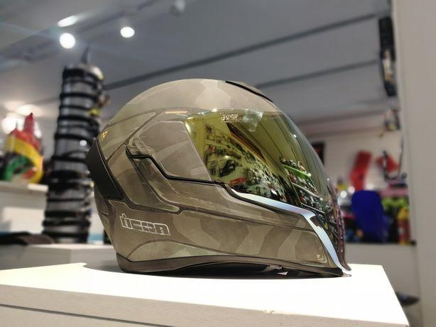 Casca Icon Airflite Battlescar 2 viziere Noua Motocicleta Snowmobil