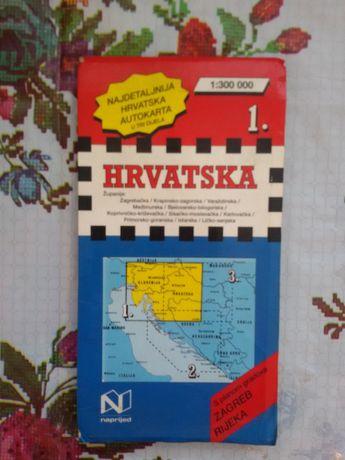Карта на Хърватия