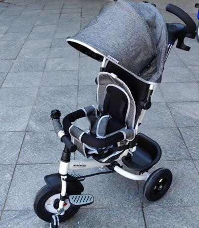 Tricicleta copii rezistenta cu roti din cauciuc, cu rulmenti otel