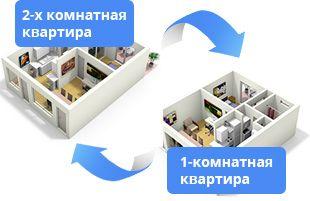 Продам или обменяю одна комнатную квартиру на двух комнатную квартиру!