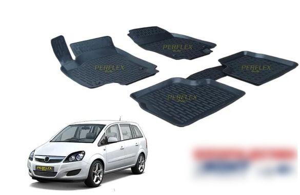 3D автомобилни гумени стелки тип леген за Опел Зафира Б /Opel Zafira B