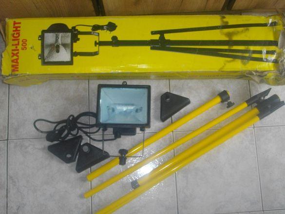 Електрически Прожектор с Халоген 500 Вата-На Стойка/Статив-1450мм