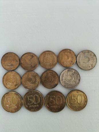 Монеты : тенге, рубль, сом, цент,СССР.