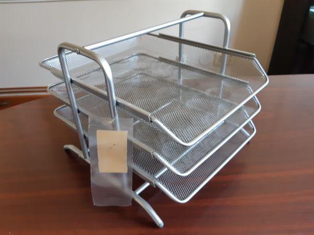 Organizator elegant tăvițe metal pentru documente birou Nou nefolosit