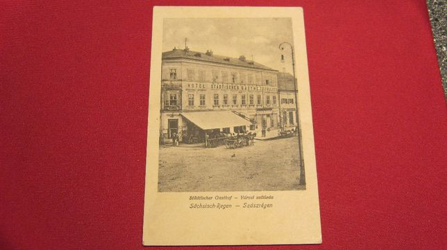 Ilustrata veche,carte postala,REGHIN,Szaszregen,Hotel orasenesc .