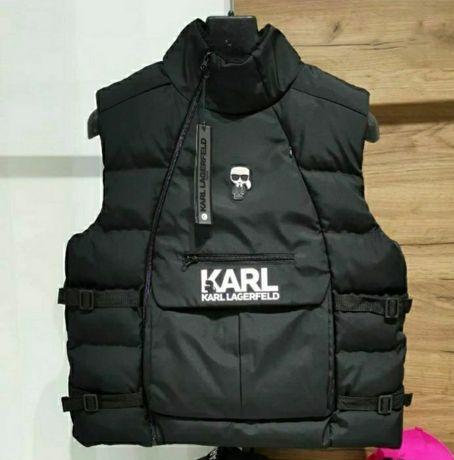 Karl Lagerfeld/Nike ветроустойчив мъжки елек олекотена/дебела пухенка