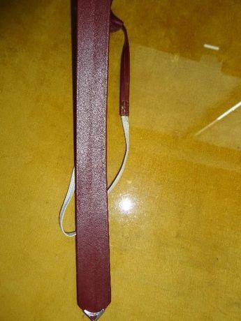кожена кафява вратовръзка БЪЛГАРСКО производство 64 дължина