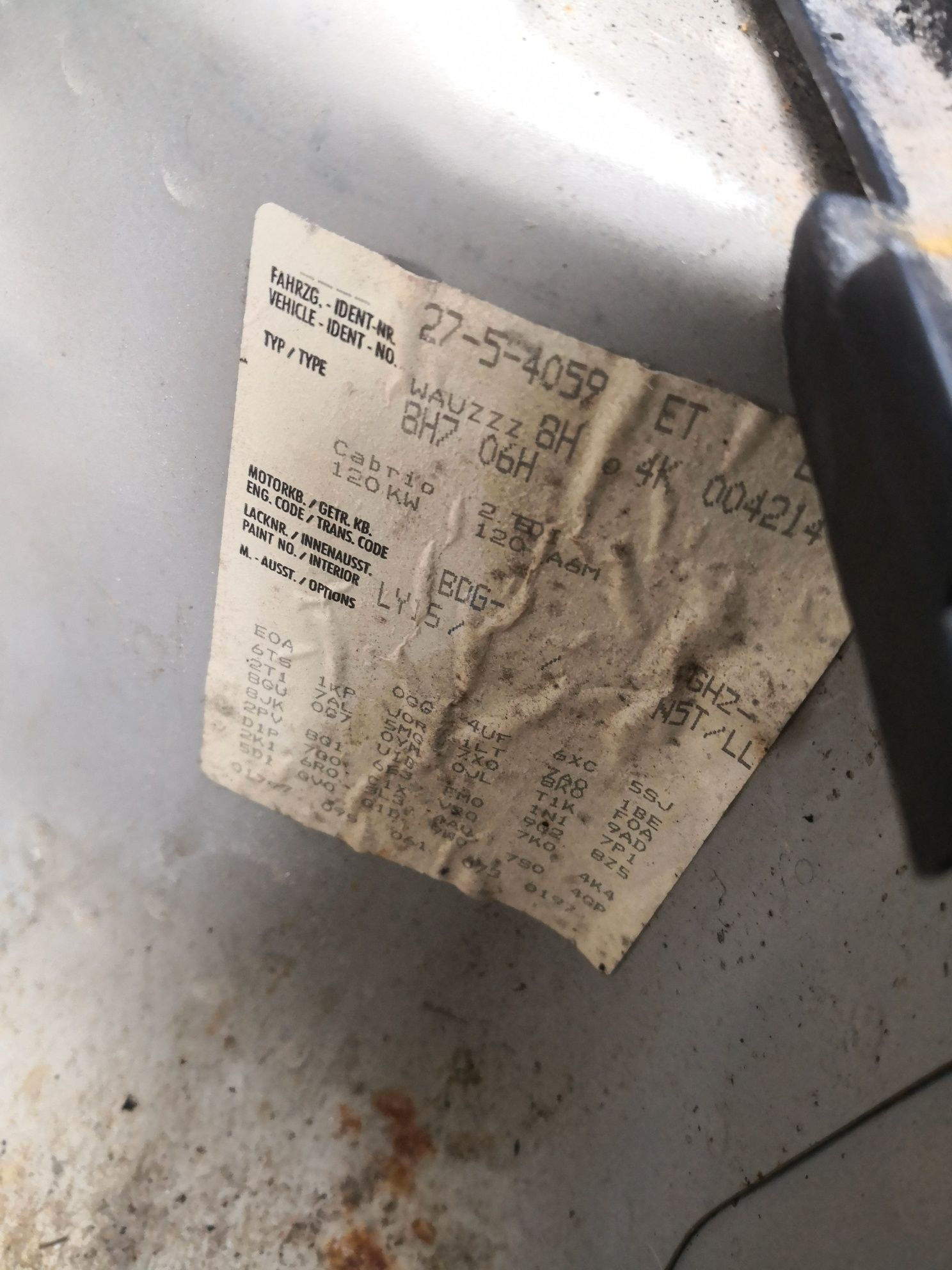 Piese ușa cutoe automata fuzeta planetara clapeta Audi a4 b6 cabrio