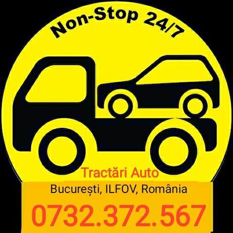 Tractări auto NON STOP Bucuresti Ilfov Romania