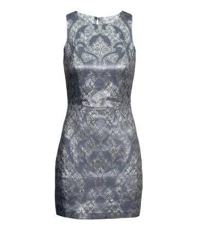 Rochie H&M argintie brocard arginntiu