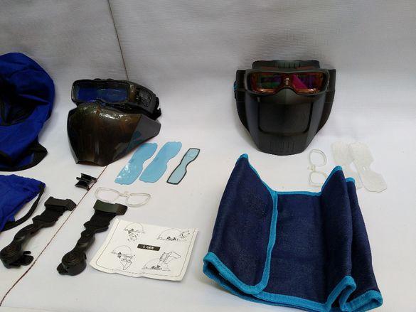Заваръчни соларни очила и маска.Профи комбинация две в едно.Оригинал