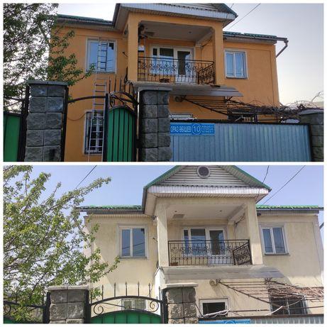 Покраска крыш, фасадов, заборов, бетона, здания