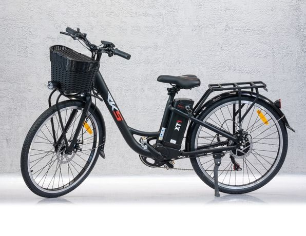 Bicicleta Electrica RKS XT1 Model NOU 2021 Display, Motor 250W, Neagra