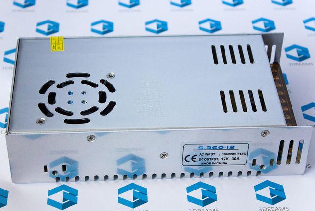 Импульсный блок питания 12 V 30 A 360 W на 12 вольт 30 ампер 360 ватт