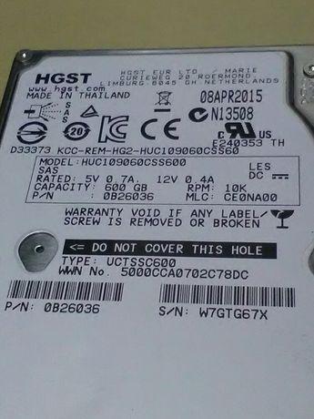 "Hard disck hdd server sas 600gb 10k 2.5"" HGST"