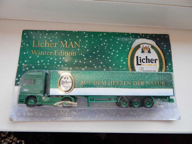 Macheta jucarie cap tractor camion MAN bere Licher sc 1:87