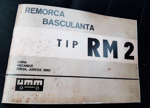 Notita Tehnica Remorca RM 2