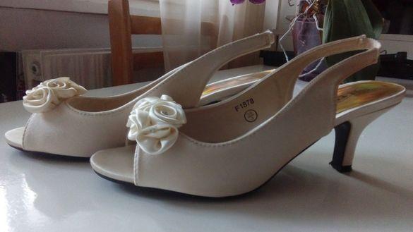 Сватбени обувки, 36 номер, цвят шампанско
