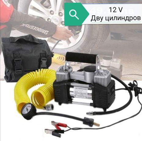 Компресор за гуми 12 V с 2 цилиндъра