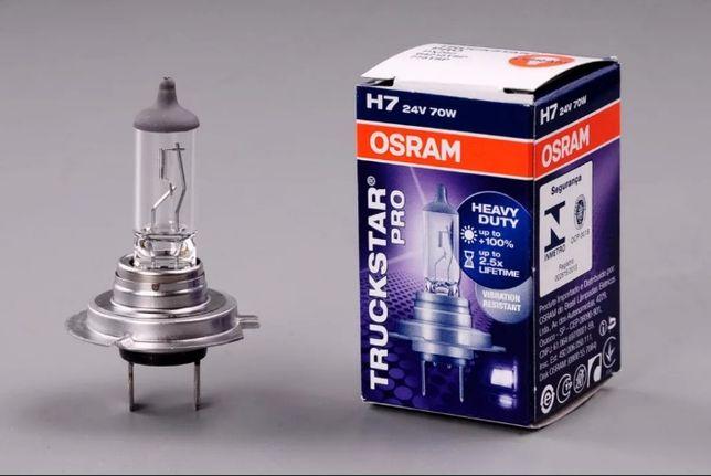 Лампа OSRAM H7 24v 70w TRUCKSTAR PRO артикул 64215TSP
