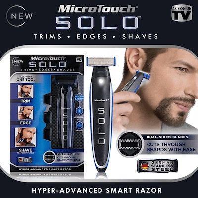 ТОП Електрическа самобръсначка тример за мъже бръснач MicroTouch Solo