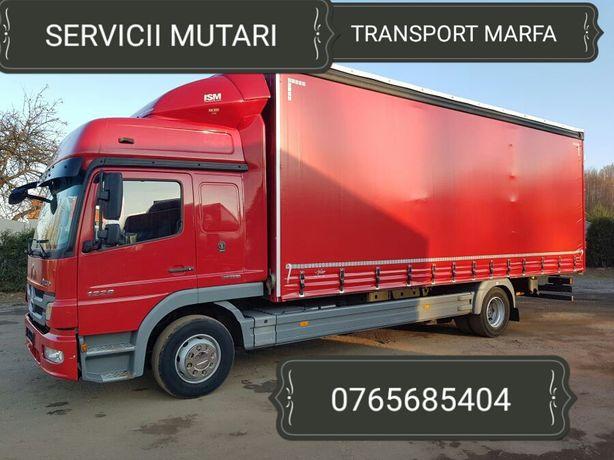 Transport marfa cu dube si camioane cu LIFT Mutari mobila