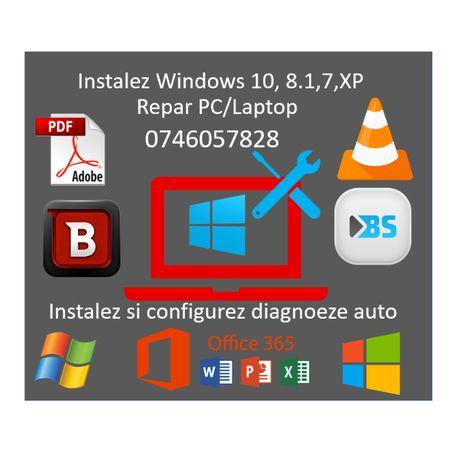 Repar PC/Instalez Windows 10,7,XP/Diagnoză auto,drivere,programe=80RON