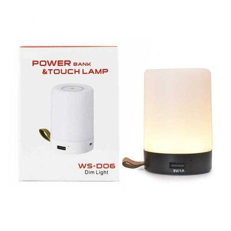 Baterie externa si lampa incorporata NOUA