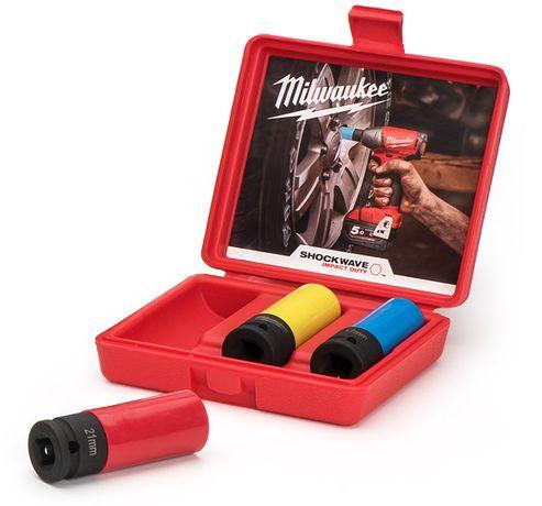 "Milwaukee Комплект ударни вложки 1/2"" за ляти джанти MIWK-2965"