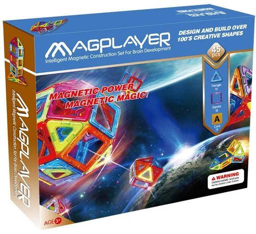MagPlayer — Детский магнитный конструктор 45 элементов деталей