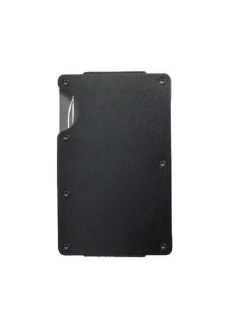 Алуминиев картодържач черен мат - портфейл