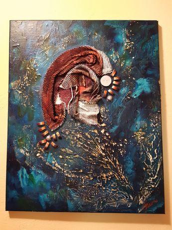Tablou abstract acril Scoică